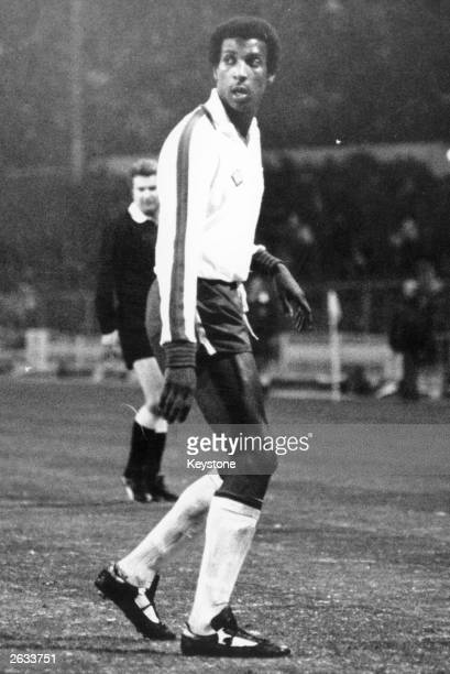 Viv Anderson in action as the first black player to play for England during their match against Czechoslovakia.