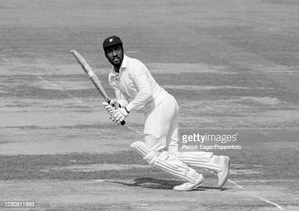 Viv Richards batting for Somerset during his innings of 117 in the Gillette Cup Final between Northamptonshire and Somerset at Lord's Cricket Ground,...