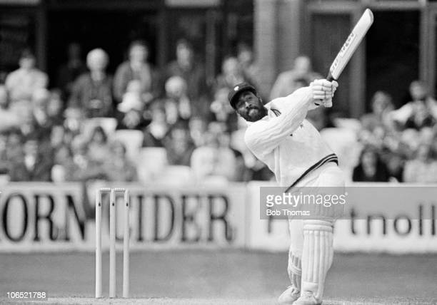 Viv Richards batting for Somerset during the Benson Hedges Cup cricket match between Somerset and Oxford Cambridge Combined Universities held at the...