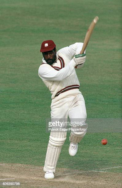 Viv Richards batting for West Indies during his innings of 128 in the tour match between Sussex and the West Indians at the County Ground, Hove, 7th...