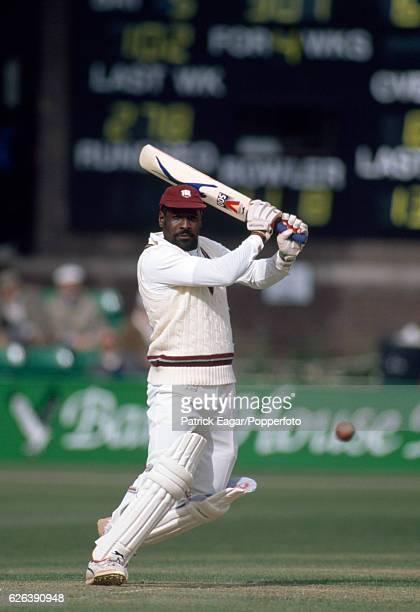 Viv Richards batting for West Indies during his innings of 131 in the tour match between Worcestershire and the West Indians at New Road, Worcester,...
