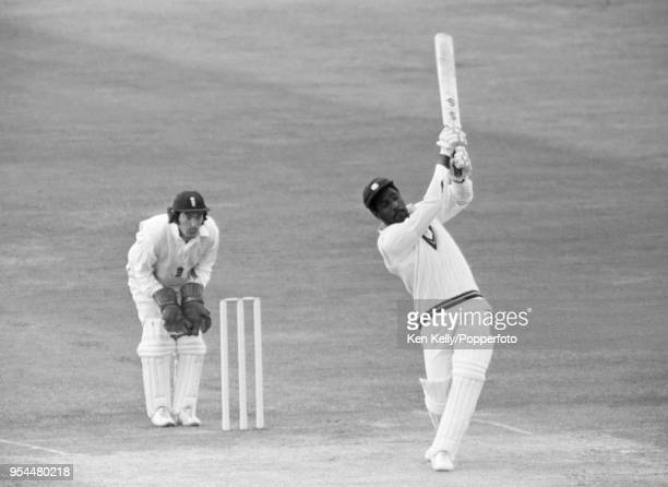 Viv Richards batting for West Indies during his innings of 232 runs in the 1st Test match between England and West Indies at Trent Bridge,...