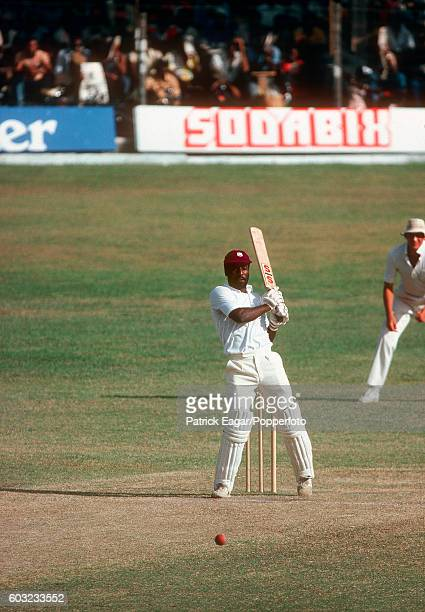 Viv Richards batting for West Indies during the 3rd Test match between West Indies and England at the Kensington Oval Bridgetown Barbados 17th March...