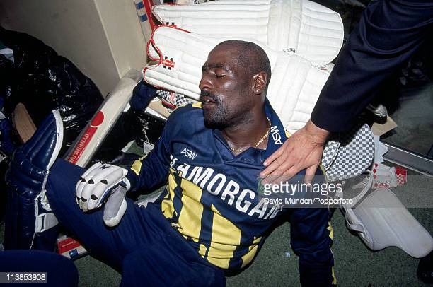 Viv Richards of Glamorgan after their AXA Equity and Law match against Kent at Canterbury on 19th September 1993. Glamorgan won by six wickets and...