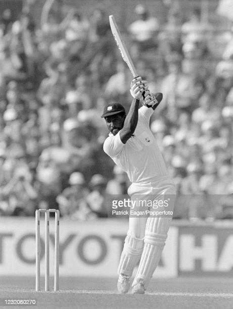 Viv Richards of West Indies batting during the 4th Test match between England and West Indies at The Oval, London, 25th July 1980. The match ended in...
