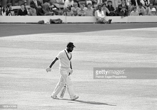 Viv Richards walking out to bat Cricket World Cup 1983 Australia v West Indies at Lord's