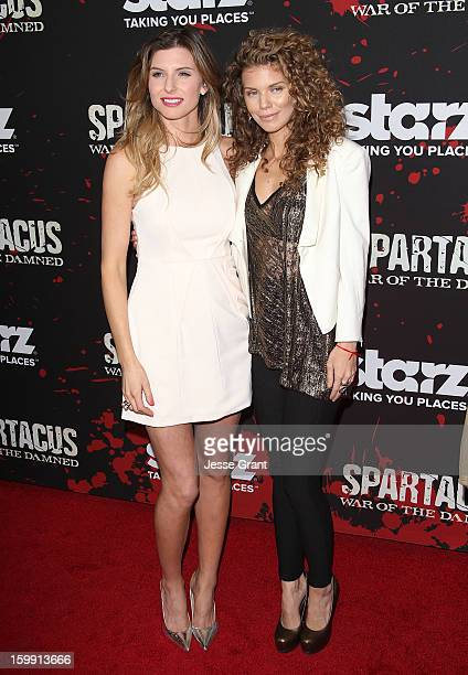 Viva Bianca and AnnaLynne McCord arrive at the Spartacus War Of The Damned Los Angeles Premiere at Regal Cinemas LA LIVE Stadium 14 on January 22...