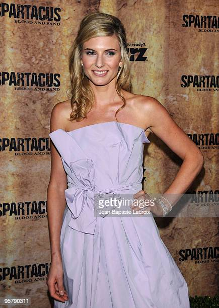 Viva Bianca arrives at the Starz original TV series 'Spartacus Blood and Sand' at Billy Wilder Theater on January 14 2010 in Westwood Village...