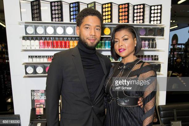 C Viva Glam Spokespeople Taraji P Henson Jussie Smollett meet fans at MAC Michigan Avenue Store in Chicago on February 13 2017 in Chicago Illinois