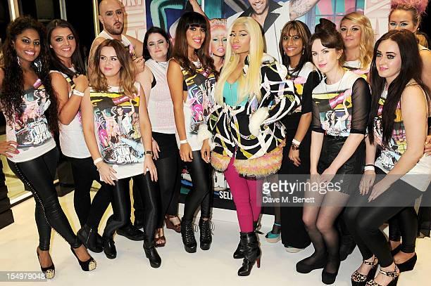 MAC Viva Glam spokesperson Nicki Minaj celebrates her new Nicki Lipglass at MAC on 3 at Selfridges on October 29 2012 in London England