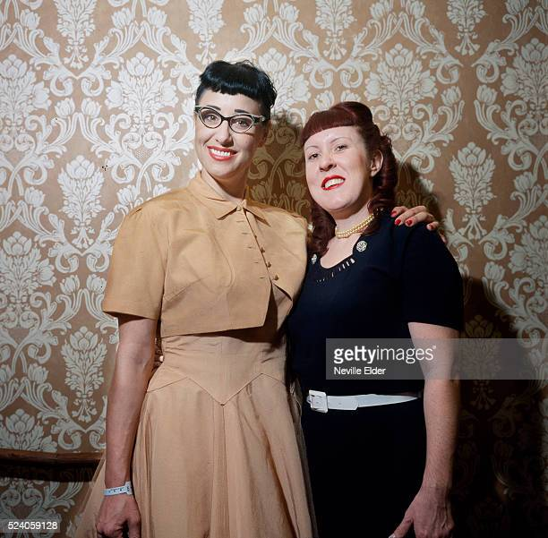 Jen and Jill from orange County California USA'Viva Las Vegas' is an annual weekend long party held in Las Vegas Nevada in April A celebration of all...