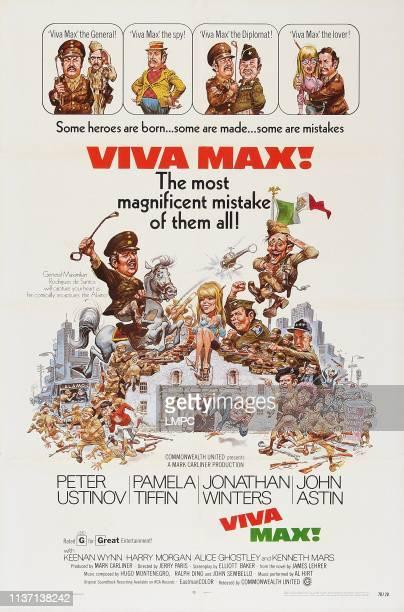 Viva Max poster US poster art left on white horse Peter Ustinov center Pamela Tiffin 1969
