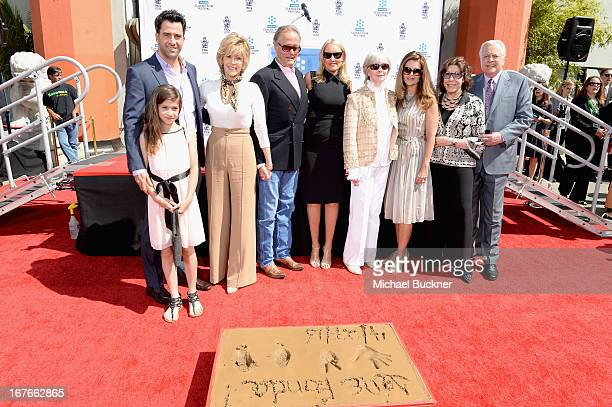 Viva Vadim Troy Garity Jane Fonda Peter Fonda Parky DeVogelaere Shirlee Mae Adams Maria Shriver Lily Tomlin and Robert Osborne attend actress Jane...