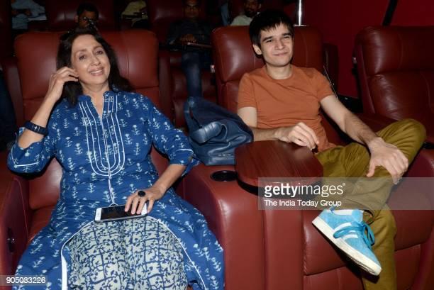 Vivaan Shah and Neena Kulkarni at the special screening of the short film Maa in Mumbai