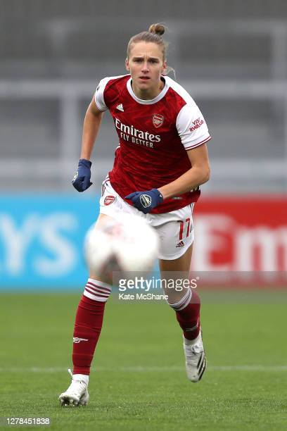 Vivanne Miedema of Arsenal FC chases the ball during the Barclays FA Women's Super League match between Arsenal and Bristol City at Meadow Park on...