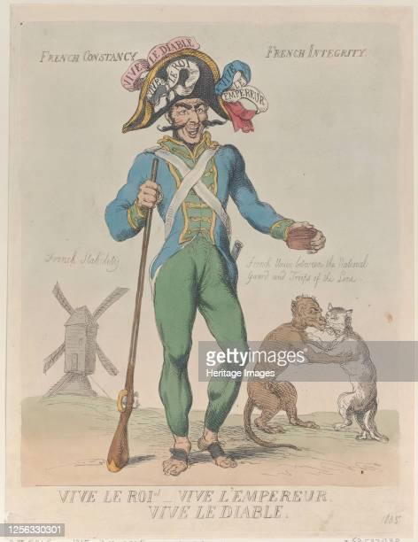 Vive Le Roi! Vive L'Empereur. Vive Le Diable., April 12, 1815. Artist Thomas Rowlandson.