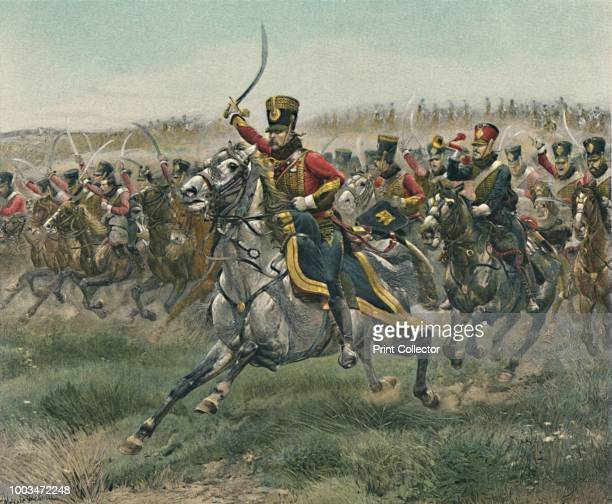 Vive L'Empereur The cavalry charge of the 4th Hussars during the Battle of Friedland 14 June 1807 Typogravure after the painting made in 1891 by...