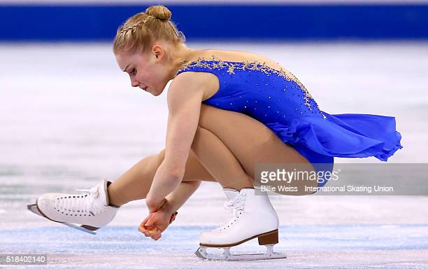 Viveca Lindfors of Finland competes during Day 4 of the ISU World Figure Skating Championships 2016 at TD Garden on March 31 2016 in Boston...
