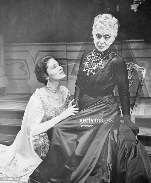 Viveca Linfors and Eugenie Leontovitch costarred in Anastasia at the Lyceum Theatre