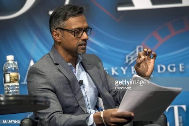 Vivek Dhayagude chief technology officer of SkyBridge Capital speaks at the Skybridge Alternatives conference in Las Vegas Nevada US on Thursday May...