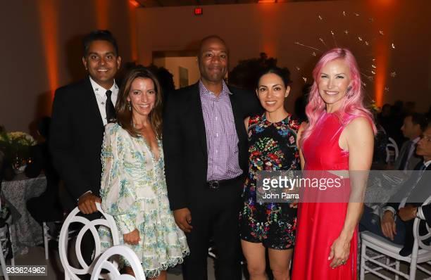 Vivek Jayaram Carolina Garcia Jayaram Teresita Fernandez and Alexa Dolman attend PAMM Art Of The Party Presented By Valentino at Perez Art Museum...