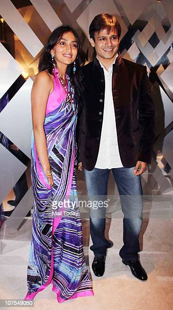 Vivek Oberoi with his wife Priyanka at an event hosted by Christopher Bailey in Mumbai to celebrate the brand Burberry's presence in India