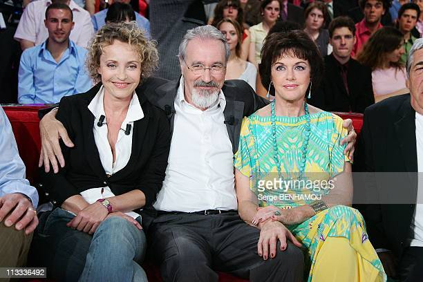 'Vivement Dimanche' Tv Show In Paris France On April 30 2008 Fanny Cottencon Bernard Le Coq Annie Duperey