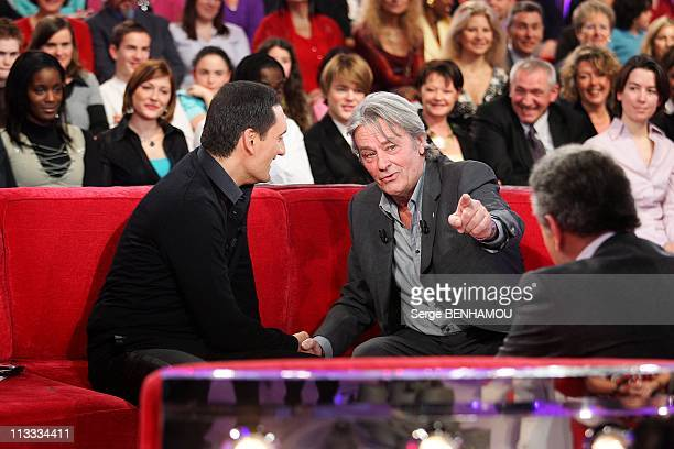 'Vivement Dimanche' Tv Show In Paris France On March 05 2008 Dany Brillant and Alain Delon