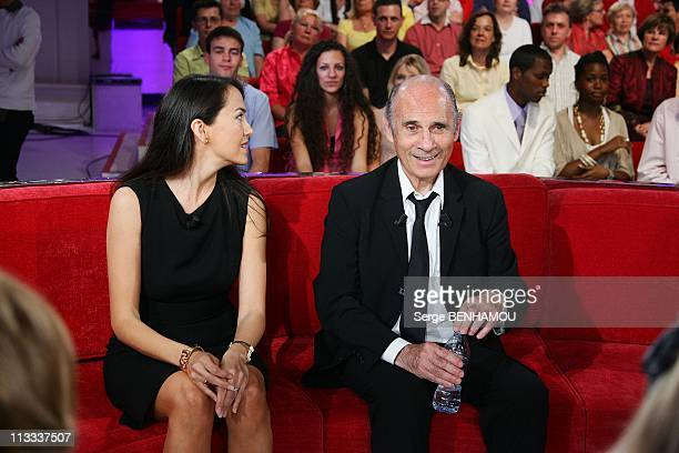 'Vivement Dimanche' Tv Show In Paris, France On May 21, 2008 - Guy Marchand and his wife Adelina.
