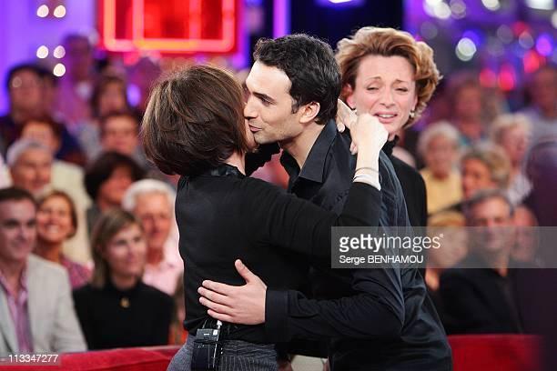 'Vivement Dimanche' Tv Show In Paris France On October 15 2008 Daniele Evenou and his son JeanBaptiste Martin