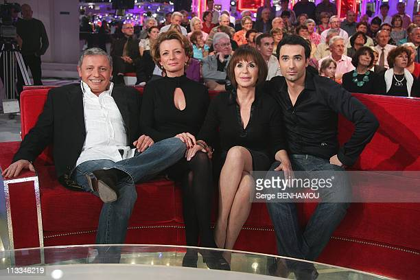 'Vivement Dimanche' Tv Show In Paris France On October 15 2008 David Martin Elise Martin Daniele Evenou JeanBaptiste Martin
