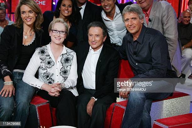 'Vivement Dimanche' Tv Show In Paris France On September 09 2009 Julie Andrieu Meryl Streep Michel Drucker Yves Duteil