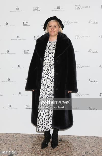 Vivetta Ponti attends 'Italiana. L'Italia Vista Dalla Moda 1971-2001' exhibition preview during Milan Fashion Week Fall/Winter 2018/19 at Palazzo...