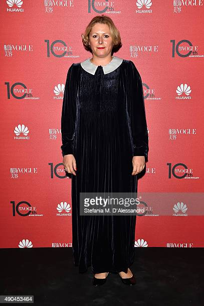 Vivetta Ponti attends Vogue China 10th Anniversary at Palazzo Reale on September 28, 2015 in Milan, Italy.