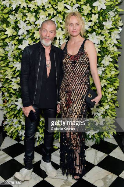 Vivi Nevo and Amber Valetta attend 2019 WSJ Magazine Talents and Legends Dinner Honoring Lucas Hedges at Mr Chow on January 28 2019 in Beverly Hills...