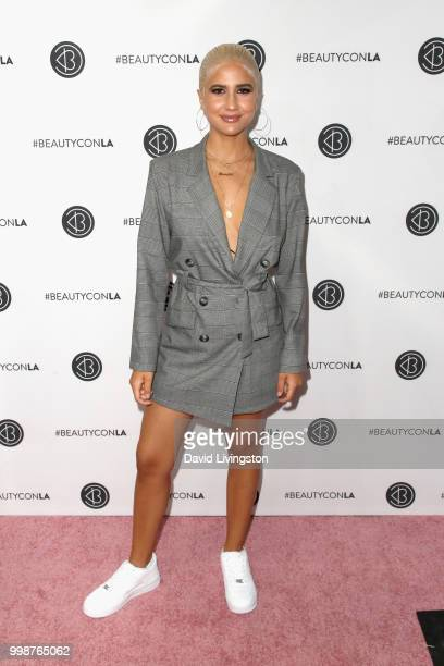 Vivian Benitez attends the Beautycon Festival LA 2018 at the Los Angeles Convention Center on July 14 2018 in Los Angeles California