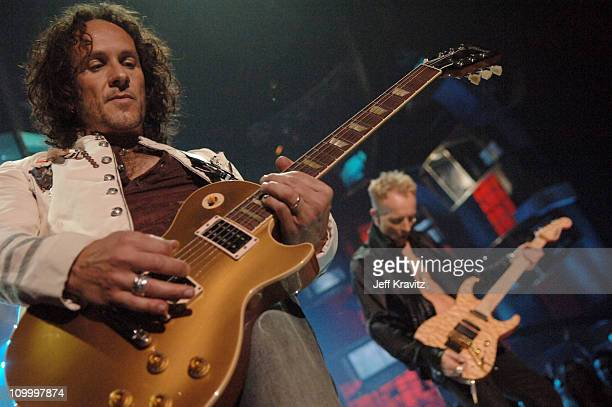 Vivian Campbell and Phil Collen of Def Leppard during 2006 VH1 Rock Honors Show at Mandalay Bay Hotel and Casino in Las Vegas Nevada United States