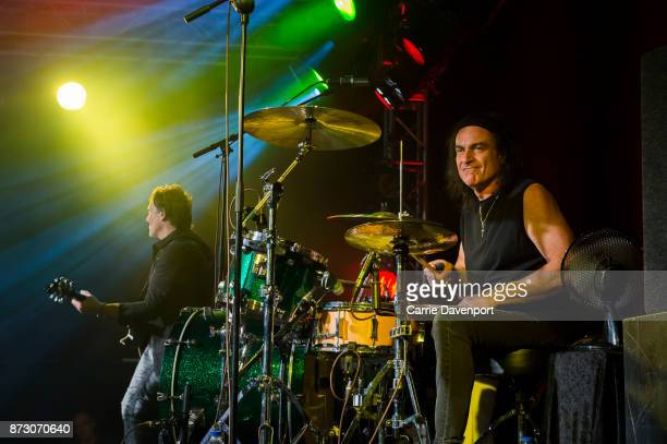Vivian Campbell and Vinny Appice of LAst in Line perform onstage at the NI Music Awards at Mandela Hall on November 11 2017 in Belfast Northern...