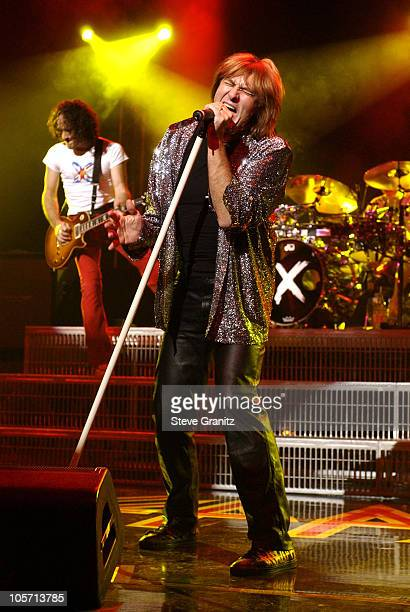 Vivian Campbell & Joe Elliot Of Def Leppard during Def Leppard In Concert - Los Angeles at Universal Amphitheatre in Universal City, California,...