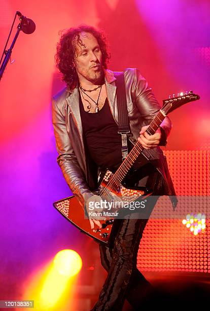 Vivian Campbell of Def Leppard performs at Nikon at Jones Beach Theater on July 30, 2011 in Wantagh, New York.