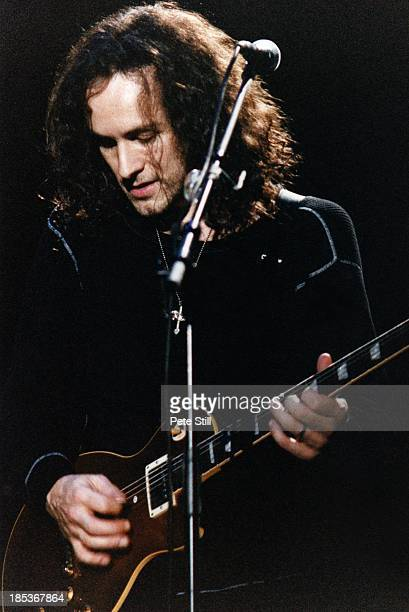 Vivian Campbell of Def Leppard performs on stage at the Birmingham NEC, on October 16th, 1996 in Birmingham, England.