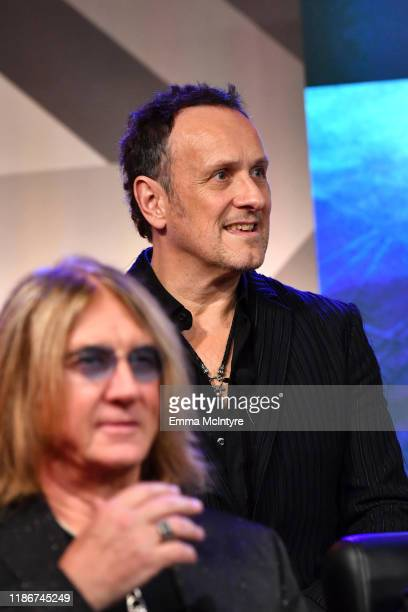 Vivian Campbell of Def Leppard speaks during the press conference for THE STADIUM TOUR DEF LEPPARD MOTLEY CRUE POISON at SiriusXM Studios on December...