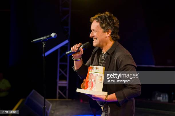 Vivian Campbell receives the Legend Award onstage at NI Music Awards at Mandela Hall on November 11 2017 in Belfast Northern Ireland