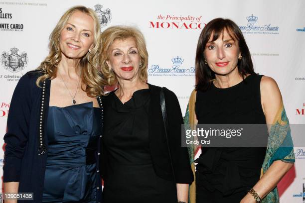 Vivian Diamont Bonnie Pfeifer Evans and Hon Maguy Maccario attend Monaco's Consulate General And Tourist Office In NY Celebrate Opening Night Of Les...