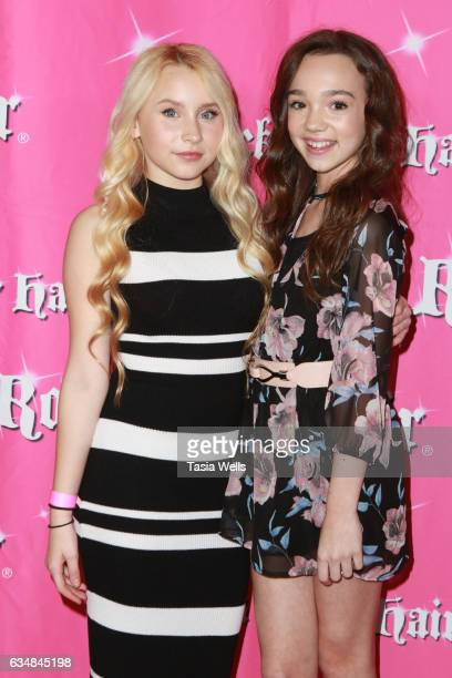 Vivian Hicks and Ruby Jay attend Rock Your Hair presents Valentine's Rocks at The Avalon Hotel on February 11 2017 in Los Angeles California