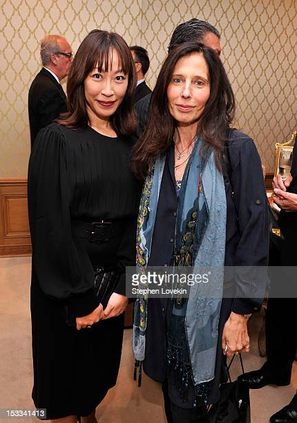 Vivian Koo and Beth Bernstein attend a cocktail reception for Tracy Paul And Company Presenting Buccellati's Pendant Earring Collection With The...
