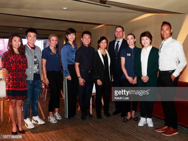 Vivian Lee Ying Shih Alex Fong Lik Sun Laureus Ambassador Annabelle Bond Malina Ngai Man Lin Ron Lee Chung Man Amy Chan Lim Chee Guy Sanan Laureus...
