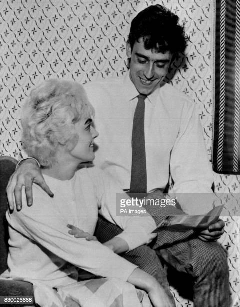 Vivian Nicholson and her husband Keith at their home in Airedale Castleford Yorkshire looking at his winning coupon after winning 152 319 8s on the...