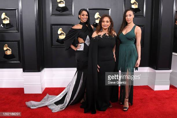 Vivian Nixon, Debbie Allen, and guest attend the 62nd Annual GRAMMY Awards at Staples Center on January 26, 2020 in Los Angeles, California.