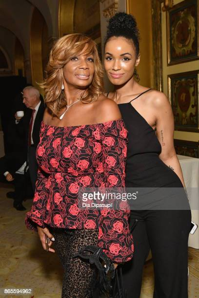 Vivian Scott Chew and guest attend HSA Masquerade Ball on October 23 2017 at The Plaza Hotel in New York City